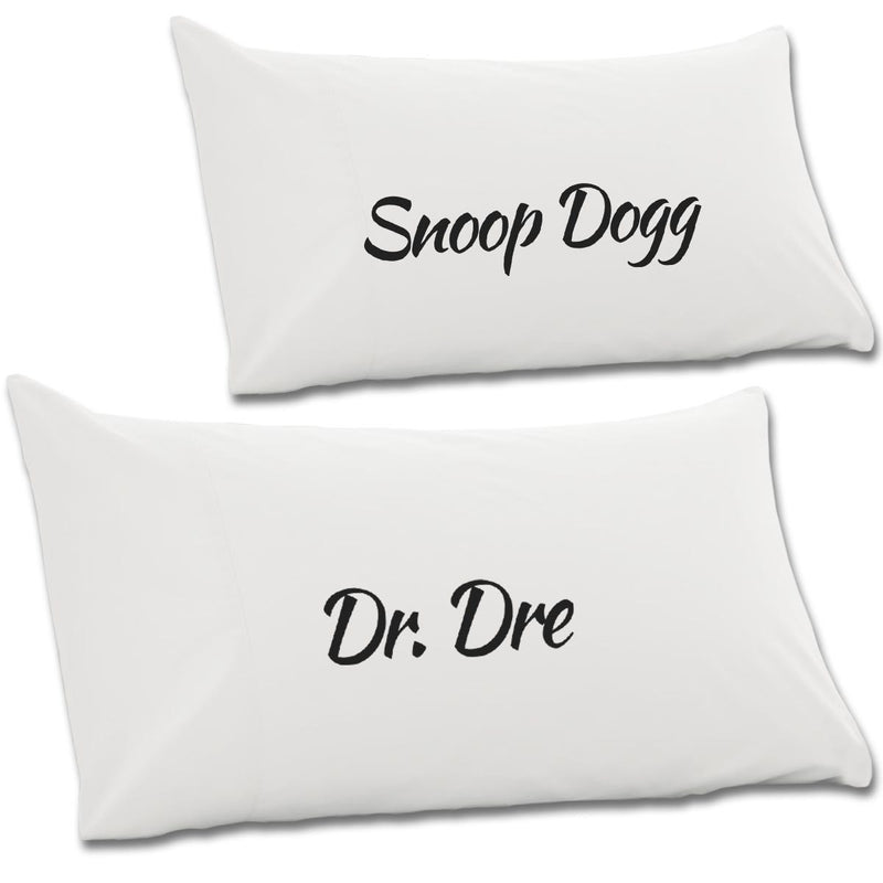 Dr Dre & Snoop Dogg Pair Of Pillow Cases