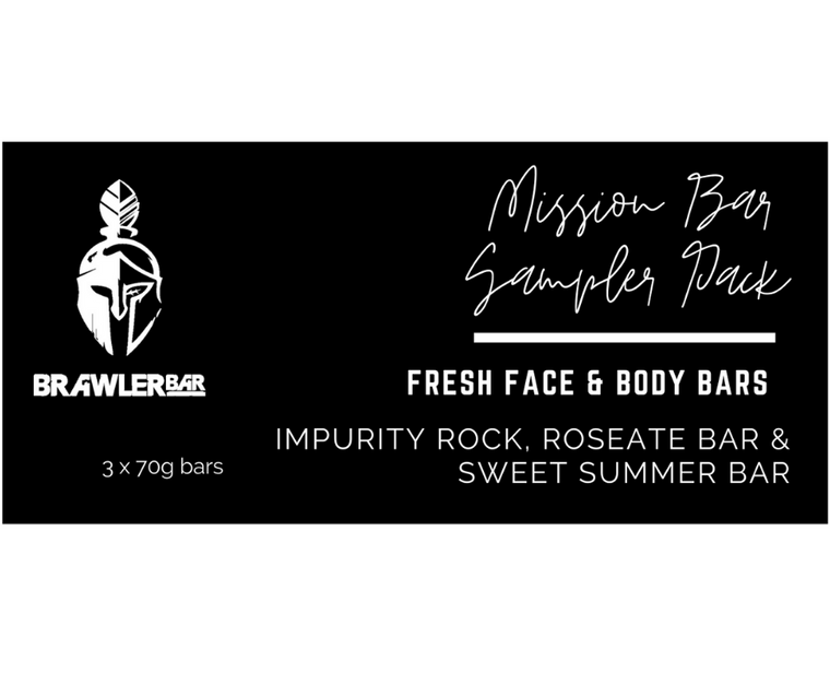 Mission Bar Sampler Pack - Includes 1 each of the Impurity Rock, Roseate & Sweet Summer Bar