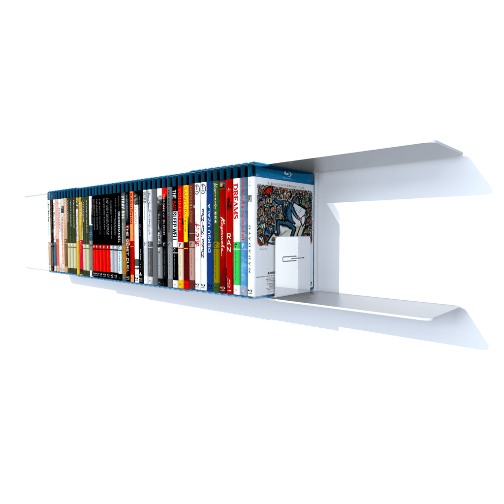 etagere blu-ray blanche