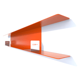 etagere murale metal DVD de 190 cm orange