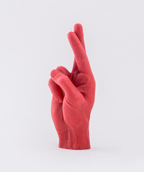 "CandleHand ""Crossed Fingers"" Red"