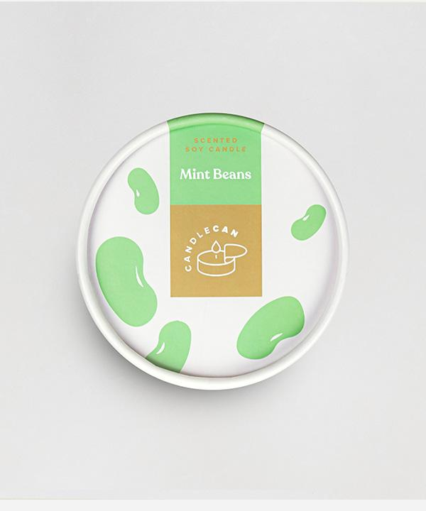 Candlecan - Mint Beans candle
