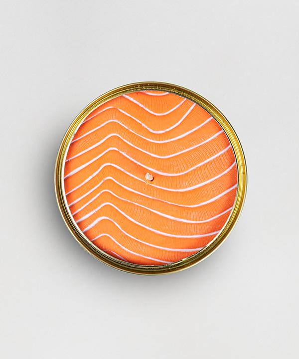 Candlecan - Orange Salmon candle