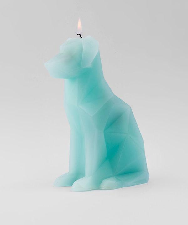 Voffi Dog Candle Aqua