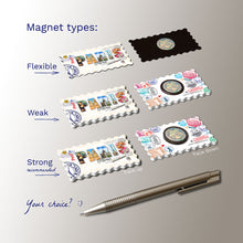 3 types of Fridge Magnet - Paris - Decorated Word