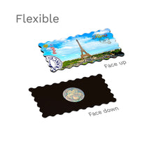 Flexible Fridge Magnet - Paris - Eiffel Tower touches sky