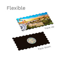 Flexible Fridge Magnet - Malaga - Panoramic view from the Gibralfaro castle