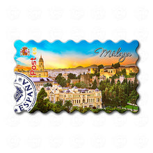 Fridge Magnet - Malaga - Panoramic view from the Gibralfaro castle