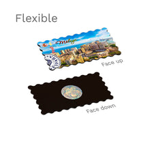Flexible Fridge Magnet - Malaga - Aerial view of Malaga Harbour, Bullring