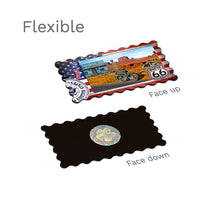 Flexible Fridge Magnet - Route 66 Grand Canyon, Motorcycle