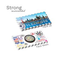 Strong Fridge Magnet - Chicago Illinois Skyline