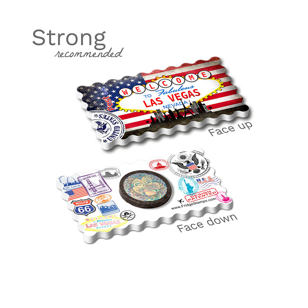 Strong Fridge Magnet - Las Vegas, Nevada USA Flag