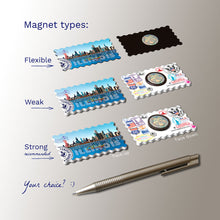 3 types of Fridge Magnets - Chicago Illinois Skyline