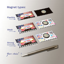 3 types of Fridge Magnets - Las Vegas, Nevada USA Flag