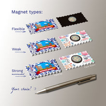 3 types of Fridge Magnets - Netherlands Illustrations