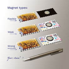 3 types of Fridge Magnets - New York - Sepia Aerial Photo