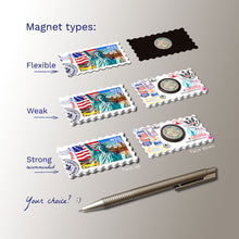 3 types of Fridge Magnets - New York - Statue of Liberty, USA