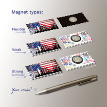 3 types of Fridge Magnets - San Francisco Decorated USA Flag