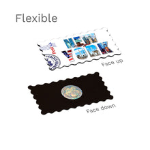 Flexible Fridge Magnet - Decorated New York Word (White)