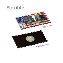 Flexible Fridge Magnet - New York - Yellow Taxis USA Flag