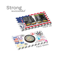 Strong Fridge Magnet - New York - Yellow Taxis USA Flag