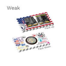 Weak Fridge Magnet - New York - Yellow Taxis USA Flag