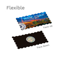 Flexible Fridge Magnet - New York - Dramatic Sky in Sunset