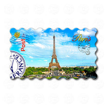 Fridge Magnet - Paris - Eiffel Tower touches sky