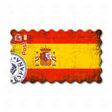 Spain - Decorated Flag of Spain