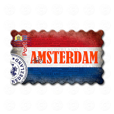 Fridge Magnet - Amsterdam Netherlands Flag