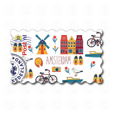 Fridge Magnet - Amsterdam Illustrations
