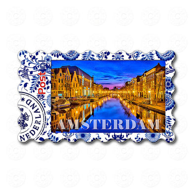 Fridge magnet - Amsterdam Canal at Night