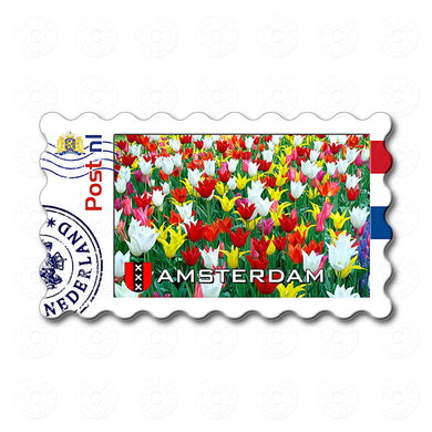 Fridge Magnet - Colorful Tulips, Amsterdam