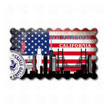 Fridge Magnet - San Francisco Decorated USA Flag