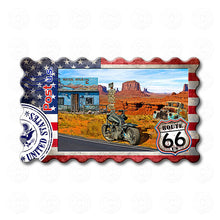 Fridge Magnet - Route 66 Grand Canyon, Motorcycle