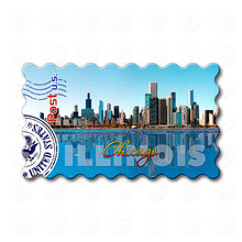 Fridge Magnet - Chicago Illinois Skyline