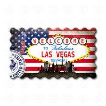 Fridge Magnet - Las Vegas, Nevada USA Flag
