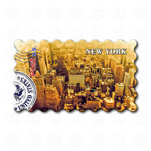 Fridge Magnet - New York - Sepia Aerial Photo