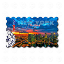 Fridge Magnet - New York - Dramatic Sky in Sunset