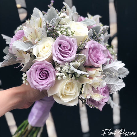Lilac Roses Bridal Bouquet