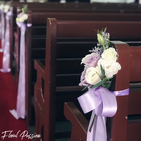Wedding Flowers Church Pew Flowers Roses