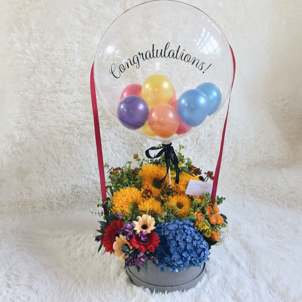 Colour Burst Flower Balloon Box