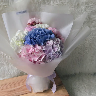 It's so fluffy! - Hydrangeas & Peony Bouquet