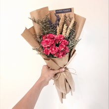 Dried Flowers & Mini Rose Bouquet