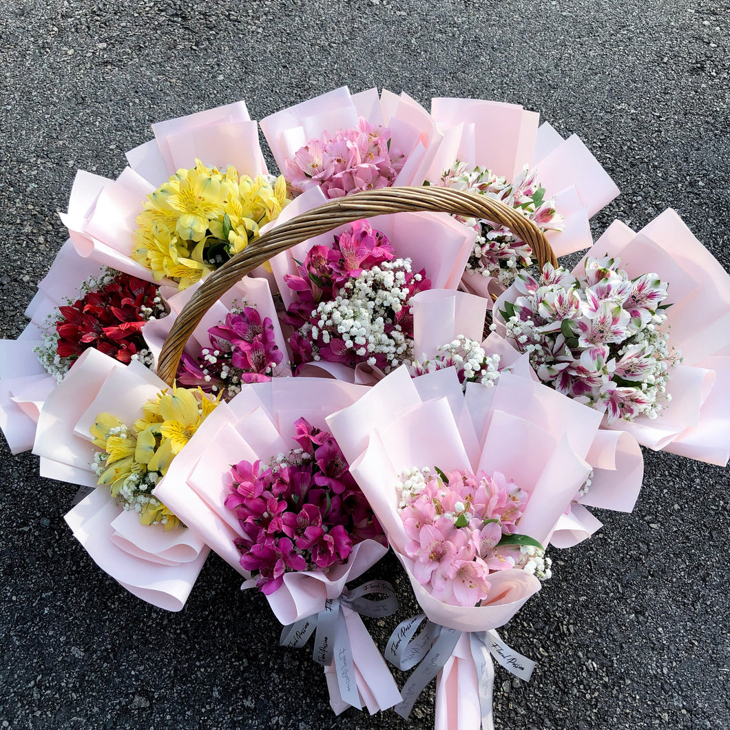 Alstromeria & Baby Breath Bouquet