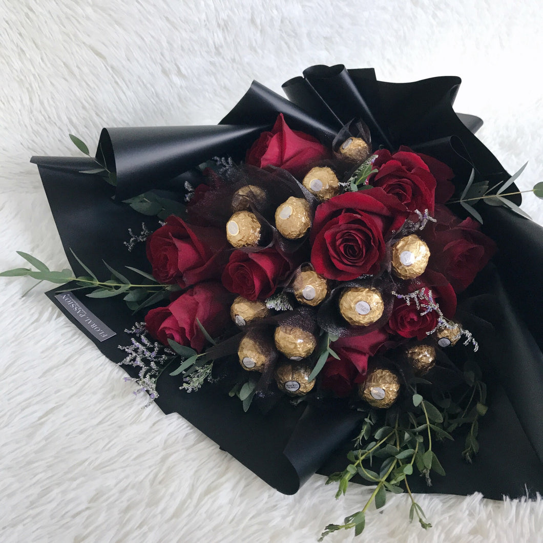 My Valentine - Ferrero Rocher Rose Bouquet