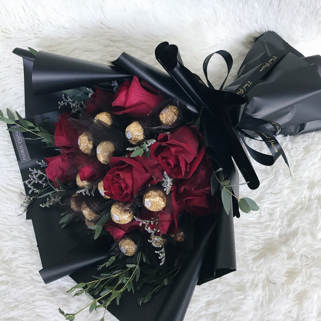 My Valentine - Ferrero Rocher Rose Bouquet – Floral Passion SG