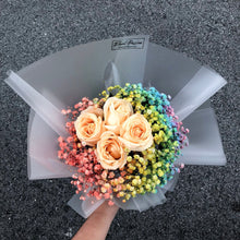 Rainbow Baby Breath & Roses