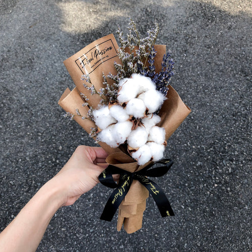 Cotton, Lavender & Caspia Bouquet