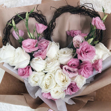 You have my Heart - Roses & Eustoma bouquet